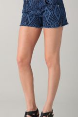 7 For All Mankind Charlie Cutoff Shorts - Lyst