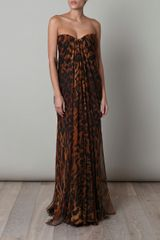Alexander McQueen Silk Chiffon Ocelotprint Dress - Lyst