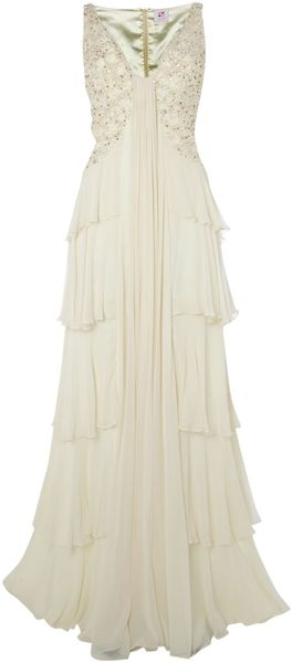 Anoushka G Loretta Dress in Beige (oyster) - Lyst