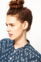 Asos Asos Cone Spike and Drop Ear Cuff - Lyst