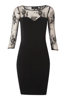 Ax Paris Ax Paris 34 Sleeve Lace Dress - Lyst
