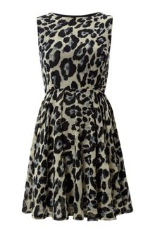 Ax Paris Animal Print Skater Dress - Lyst