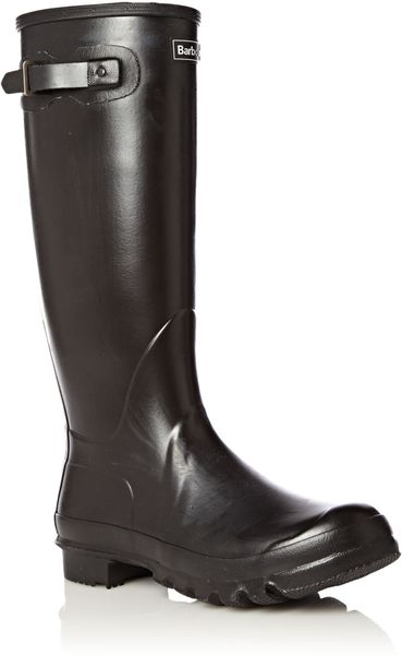 Barbour Town And Country Wellington Boots In Black For Men