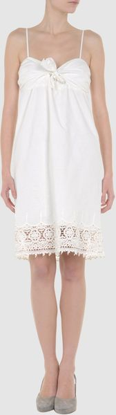 Beija Beija Short Dresses in White (ivory) - Lyst