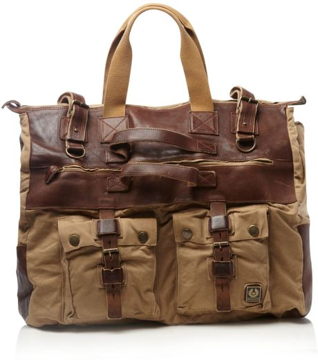 Belstaff Canvas Travel Bag in Beige for Men (sand) - Lyst