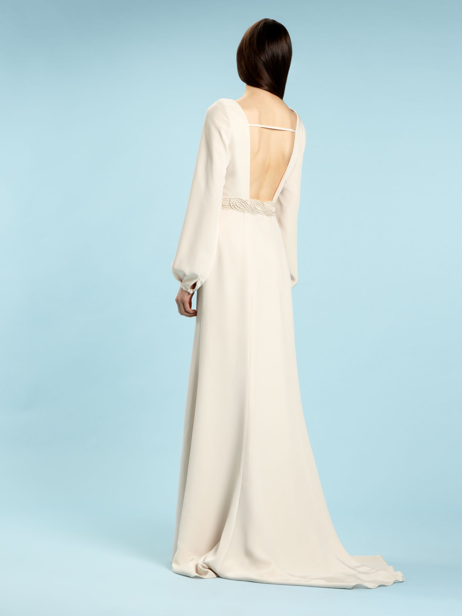 Lyst - Biba Alexa Bell Sleeve Bridal Gown in White