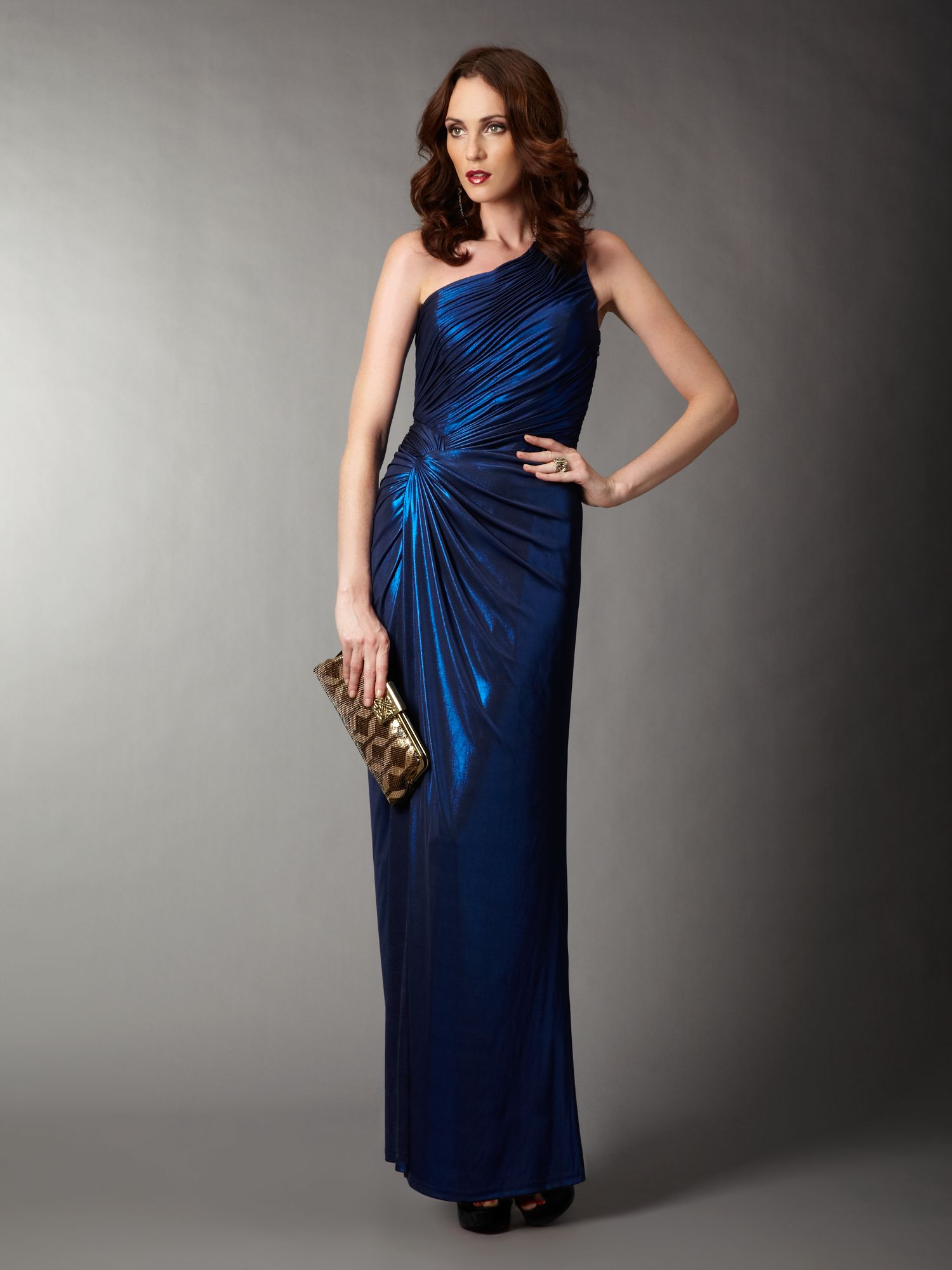 Biba Asymmetric One Shoulder Maxi Dress in Blue  Lyst