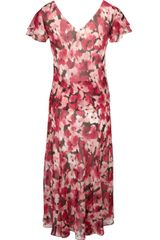 Cc Petites Pansy Print Dress in Red (multi-coloured) - Lyst