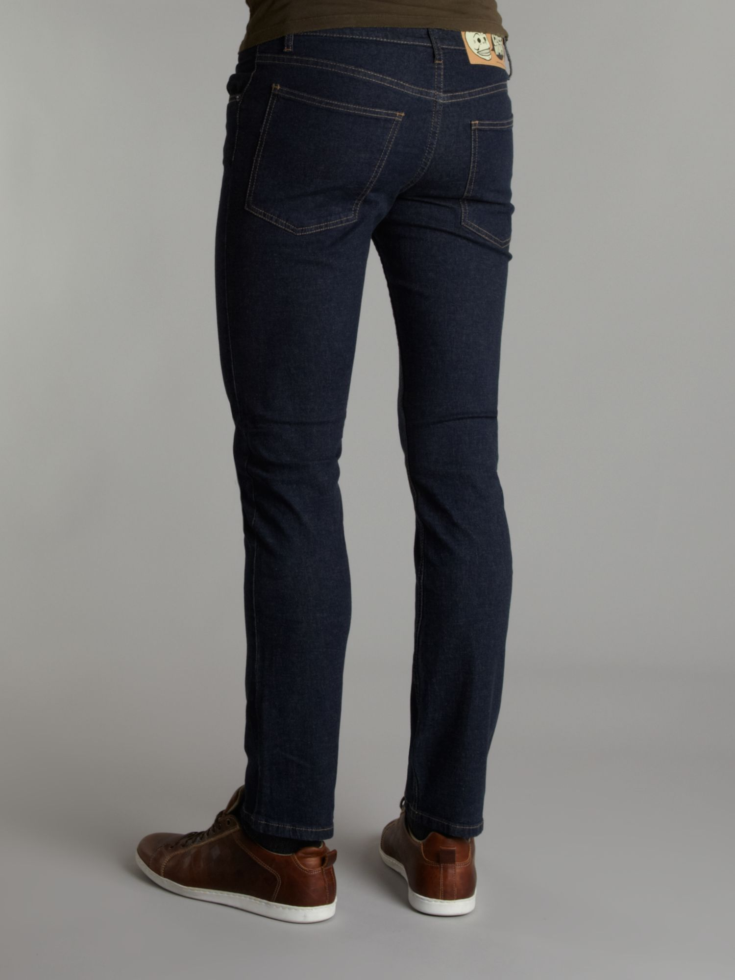Cheap monday Skinny Dark Wash Jeans in Blue for Men | Lyst