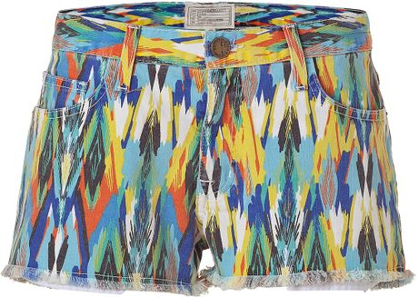 Current/elliott Multicolored Arrow Printed Boyfriend Short in Multicolor (multicolored)