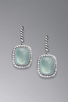 David Yurman Noblesse Earrings Aqua Chalcedony - Lyst
