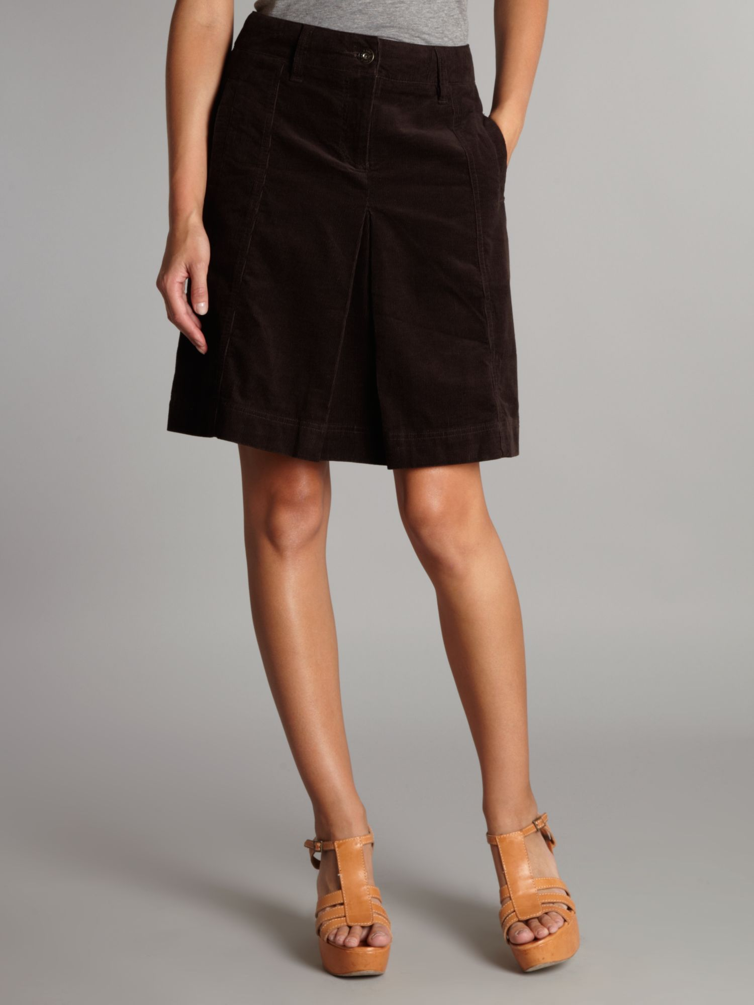 Dickins & jones Cord A Line Skirt in Black | Lyst