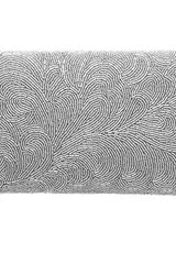 Dune Light Beaded Feather Clutch Bag in Gray (silver) - Lyst