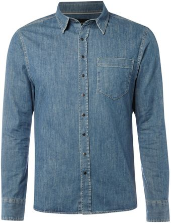 Farrell Mens Denim Shirt - Lyst