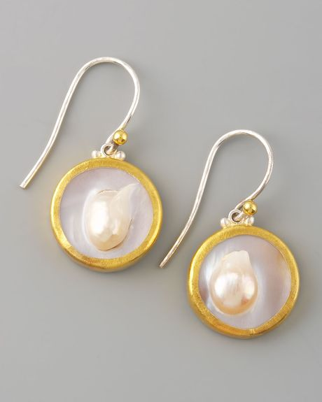 Gurhan Island Pearl Earrings in Gold (pearl) - Lyst