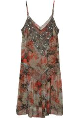 Haute Hippie Embellished Floralprint Silk Dress - Lyst
