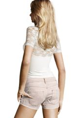 H&m Shorts in Beige (denim) - Lyst