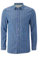 Howick Boston Stripe Shirt in Blue for Men (green) - Lyst