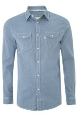 Howick Longsleeved Denim Stripe Shirt - Lyst