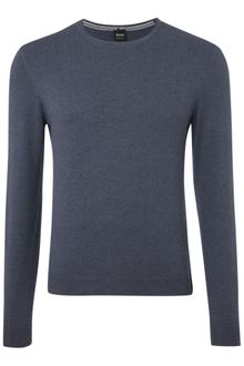Hugo Boss Cotton Knit Crew Neck - Lyst