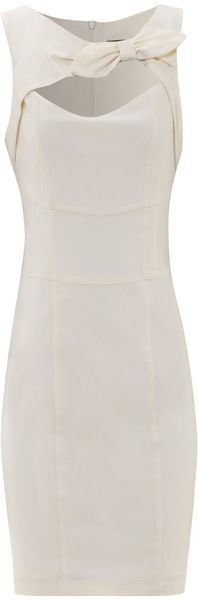 Jane Norman Bow Front Shift Dress - Lyst