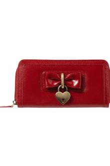 Jane Norman Bowheart Zip Purse - Lyst