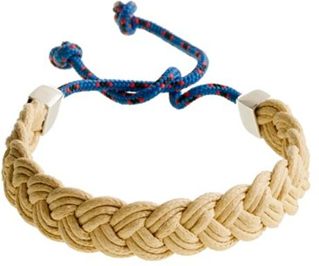 J.crew Miansai® Nantucket Silver Bracelet in Beige for Men (natural blue rope) - Lyst