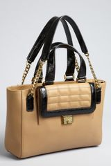 Jimmy Choo Nude Leather Camille Quilted Pocket Tote - Lyst