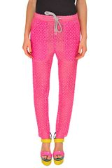 Jo No Fui Lace Jogging Pants in Pink - Lyst