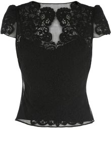 Karen Millen Heavy Cotton Lace Top - Lyst