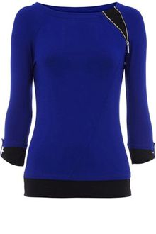 Karen Millen Colourblock Fitted Tee - Lyst