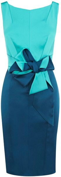 Karen Millen Beautiful Satin Dress - Lyst