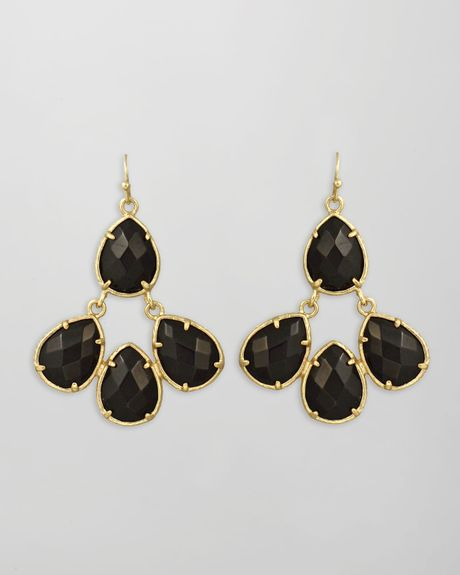 Kendra Scott Carlone Earrings  in Black - Lyst