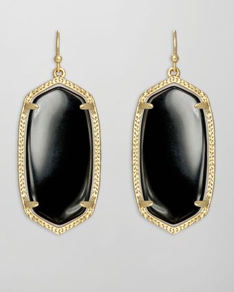 Kendra Scott Elle Earrings Black Onyx - Lyst
