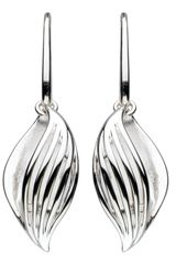 Kit Heath Sterling Silver Wrapped Leaf Earrings - Lyst