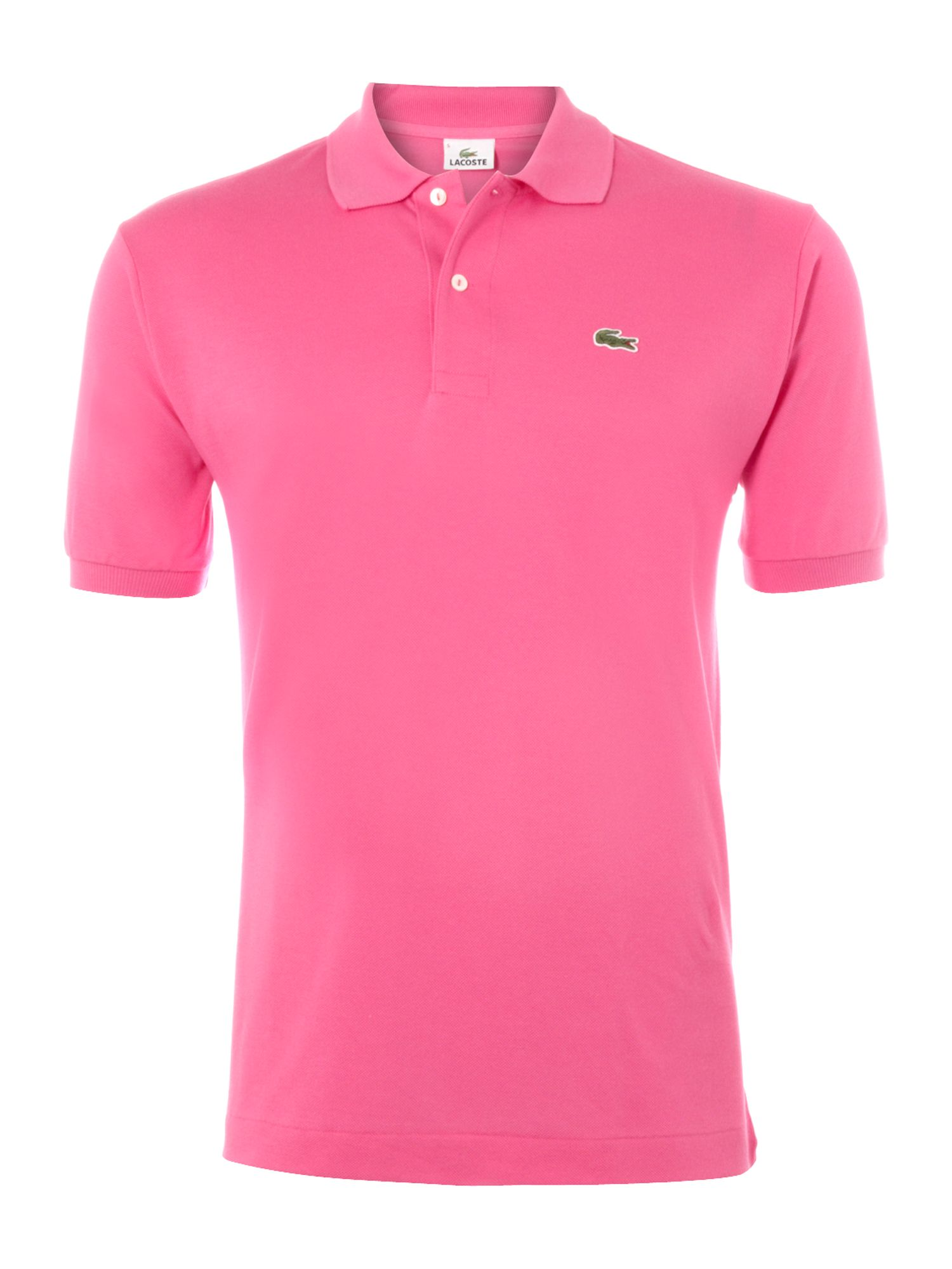 Lacoste Classic Fitted Polo Shirt in Pink for Men | Lyst