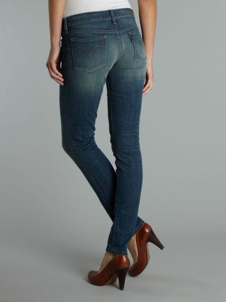 levi 39 s curve id slight skinny vintage whisper jeans in. Black Bedroom Furniture Sets. Home Design Ideas