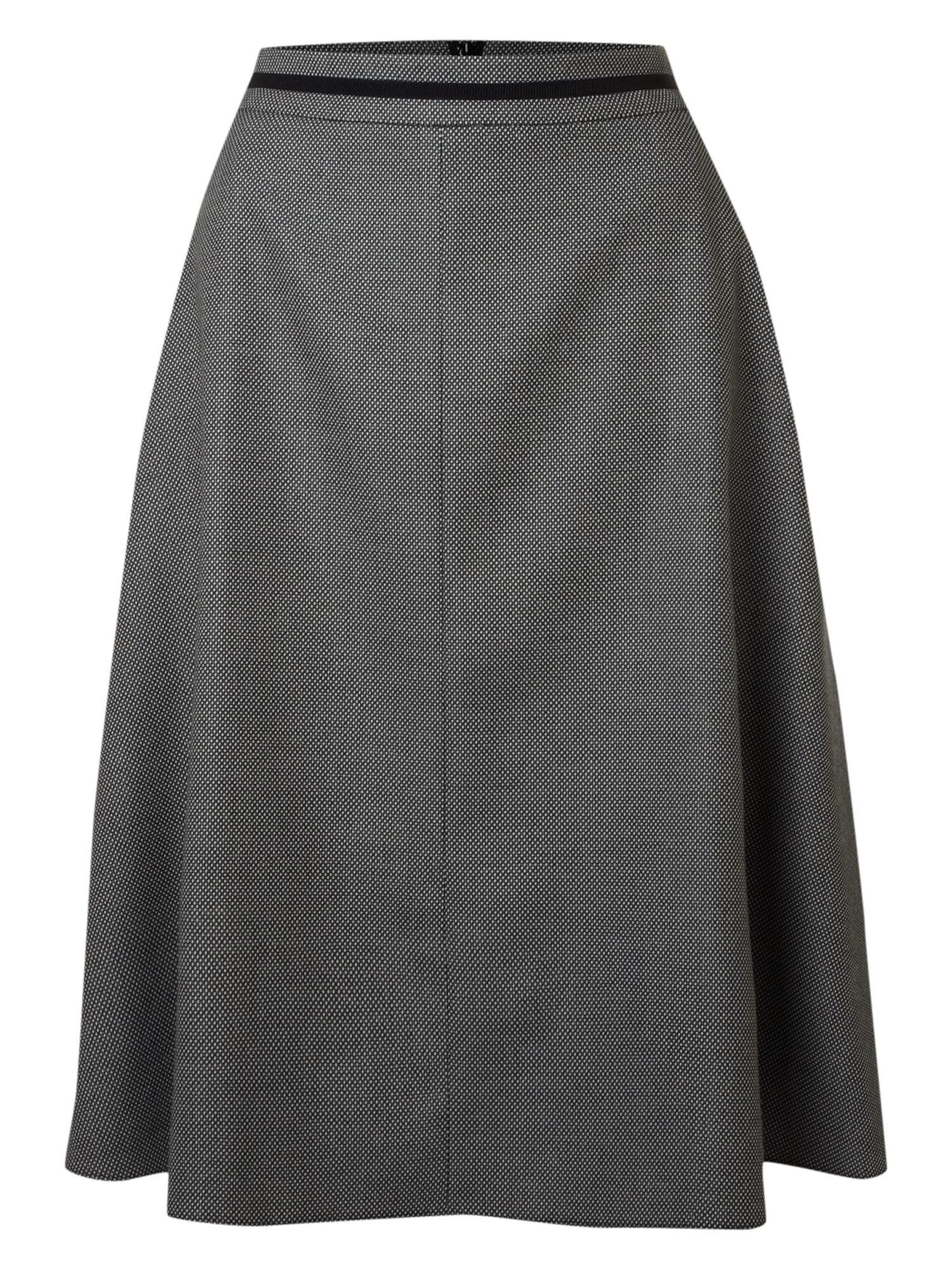 linea midi herringbone tweed skirt in gray grey lyst