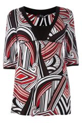 Lovedrobe Abstract Print 34 Sleeve Tunic - Lyst