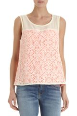 Marc By Marc Jacobs Lace Sleeveless Blouse - Lyst