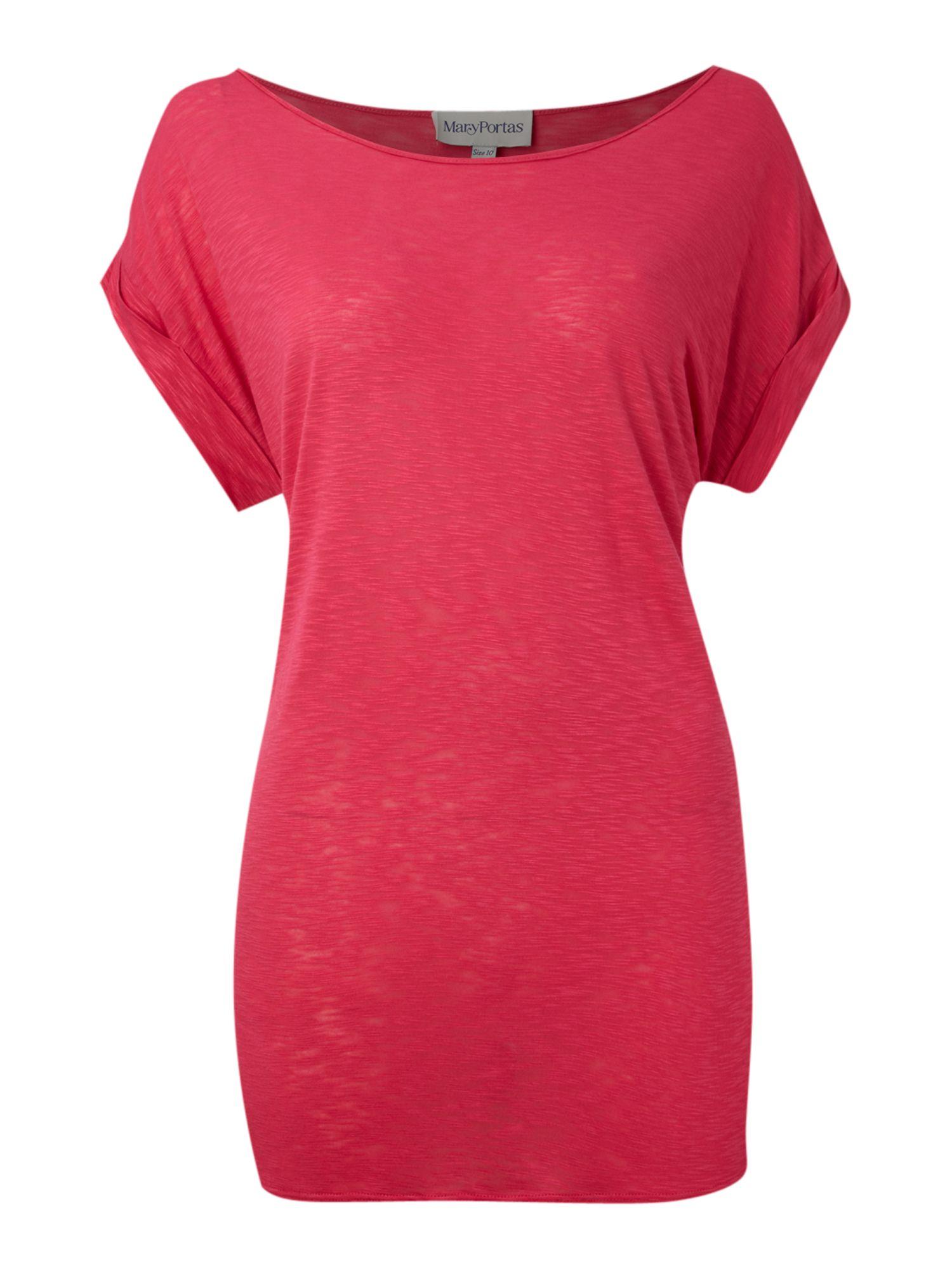 Lyst - Mary Portas Slub Box Jersey Tee Top in Purple