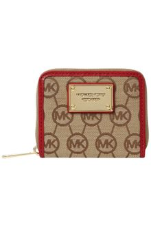 Michael by Michael Kors Monogram Zip Around Purse - Lyst