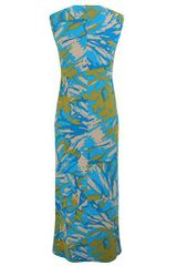 Minuet Petite Green Abstract Maxi Dress in Blue (green) - Lyst