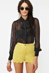Nasty Gal Dotted Line Blouse - Lyst