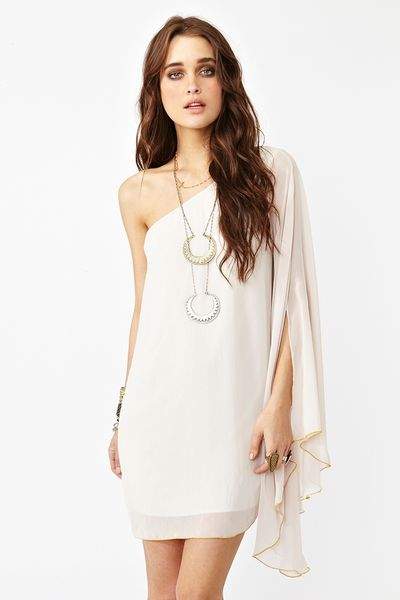 Nasty Gal Sweet Side Dress In Pink Blush Lyst