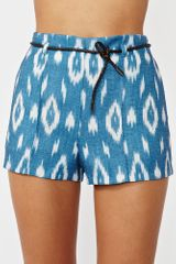 Nasty Gal Agustina Shorts in Blue (chambray) - Lyst