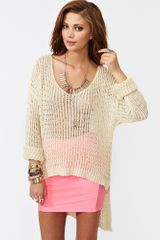 Nasty Gal Camden Knit Cream - Lyst