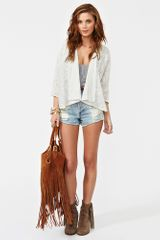 Nasty Gal Sofie Lace Jacket in Beige (ivory) - Lyst