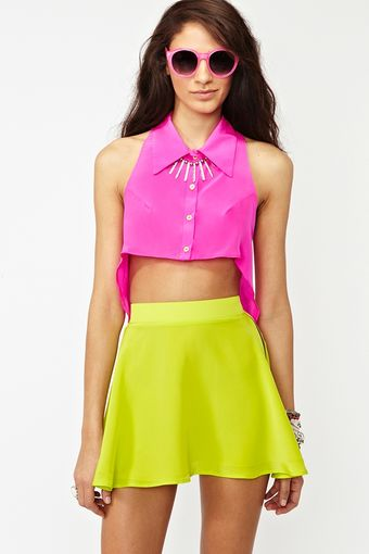 Nasty Gal Silk Circle Skirt - Lyst