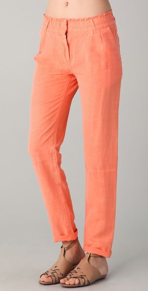 Obakki Johanna Pants in Orange - Lyst